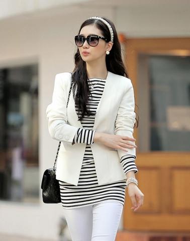 Krémové dámské sako