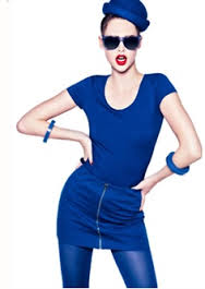 modré oblečení